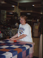 Connie with quilt